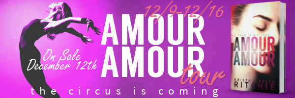 Take a Tour to AMOUR AMOUR by KB RITCHIE ➜ Character Profile & Giveaway!