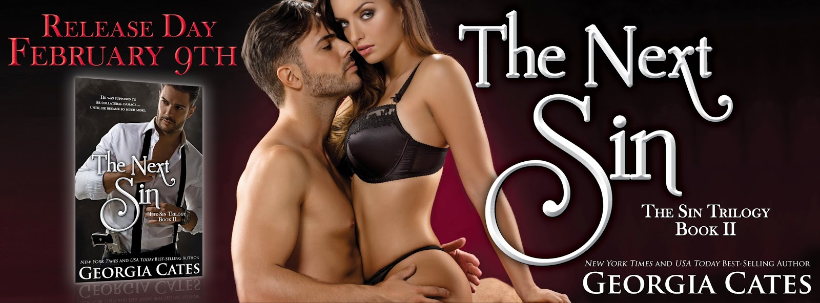 HAPPY RELEASE DAY, Georgia Cates -> THE NEXT SIN #Excerpt #Giveaway